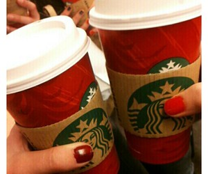 coffee, holiday, and red image