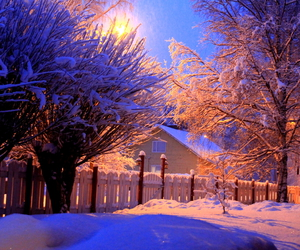 blue, light, and snow image