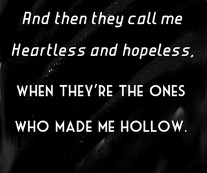 hollow, hopeless, and heartless image
