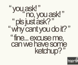 funny, ketchup, and text image