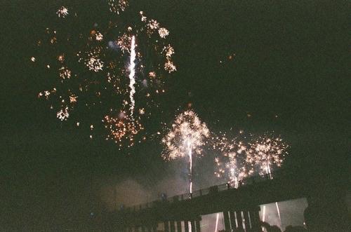 fireworks, night, and vintage image