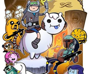 adventure time, star wars, and hora de aventura image