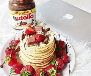apple, chocolate, and nutella image