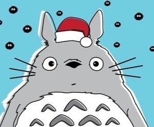 totoro, christmas, and anime image