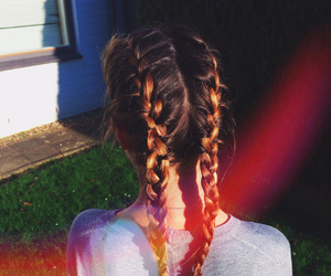 blond, braids, and goals image