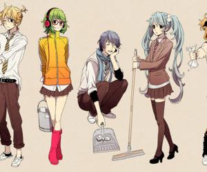 vocaloid, kaito, and miku hatsune image