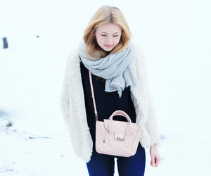 bag, furry, and girl image