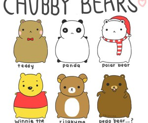 bear, panda, and chubby image