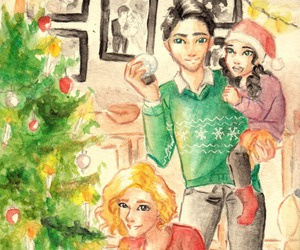 christmas, percy jackson, and annabeth image