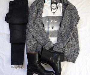 clothes and black outfit image
