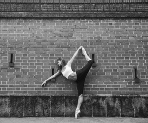 ballerina, ballet, and blacknwhite image