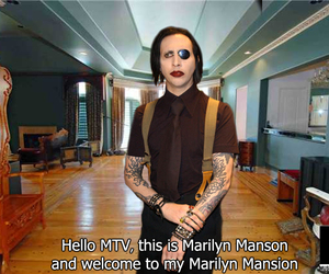 Marilyn Manson, funny, and mtv image