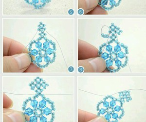 diy, necklace, and snowflake image