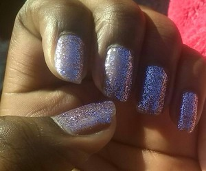 nails, violet, and cute image