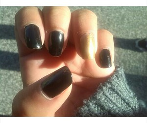black, nails, and cute image