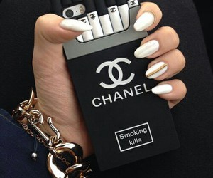 balck, chanel, and white image