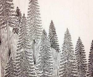 black, forest, and paint image