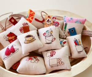 colorful, cushion, and food image