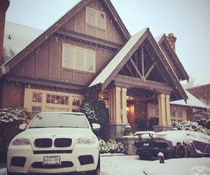 house, car, and snow image