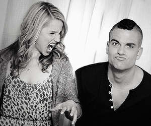 glee, puck, and dianna agron image
