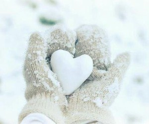 winter snow and winter love image