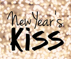 kiss, love, and new year image
