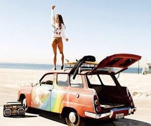 cars, girl, and summer image