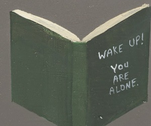 book and alone image