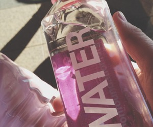 pink, water, and bottle image