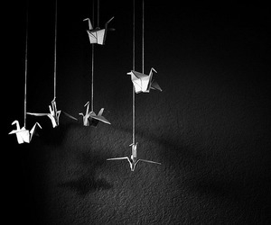 monochrome and origami image