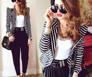 black&white, fashion, and outfit image