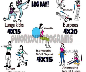 fitness, workout, and legs day image