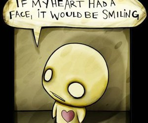 heart, smile, and quote image