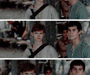 thomas brodie, maze runner, and dylan o' brien image