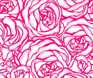 pink, roses, and wallpaper image