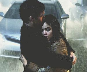 hug, rain, and relationships image