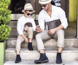 little boy, louis vuitton bag, and stylish guy image