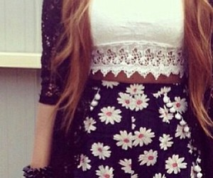 outfit, flowers, and summer image