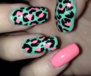 leopard, mint, and nails image