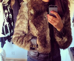 fashion, fur, and girl image