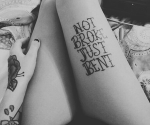 tattoo, quote, and black and white image