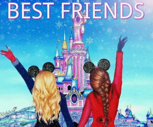 best friends, chateau, and disney image