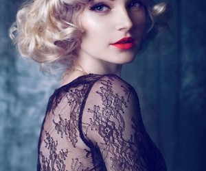 beauty, blonde, and lace image