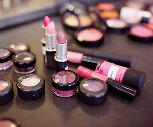 mac, make up, and pink image