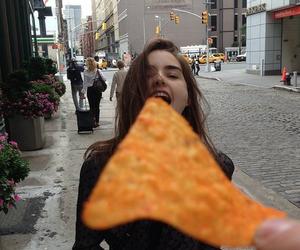 girl, food, and doritos image