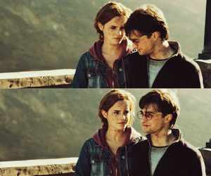 couple, daniel radcliffe, and deathly hallows image