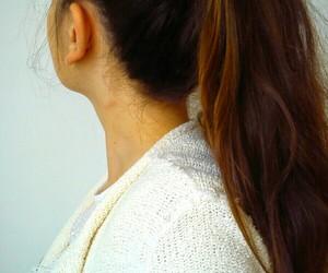 long hair white simple image