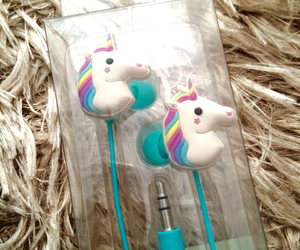 headphones and unicorn image