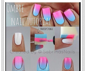 nails, pink, and tutorial image