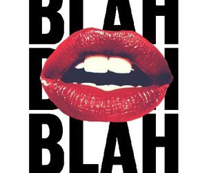 lips, blah, and red image